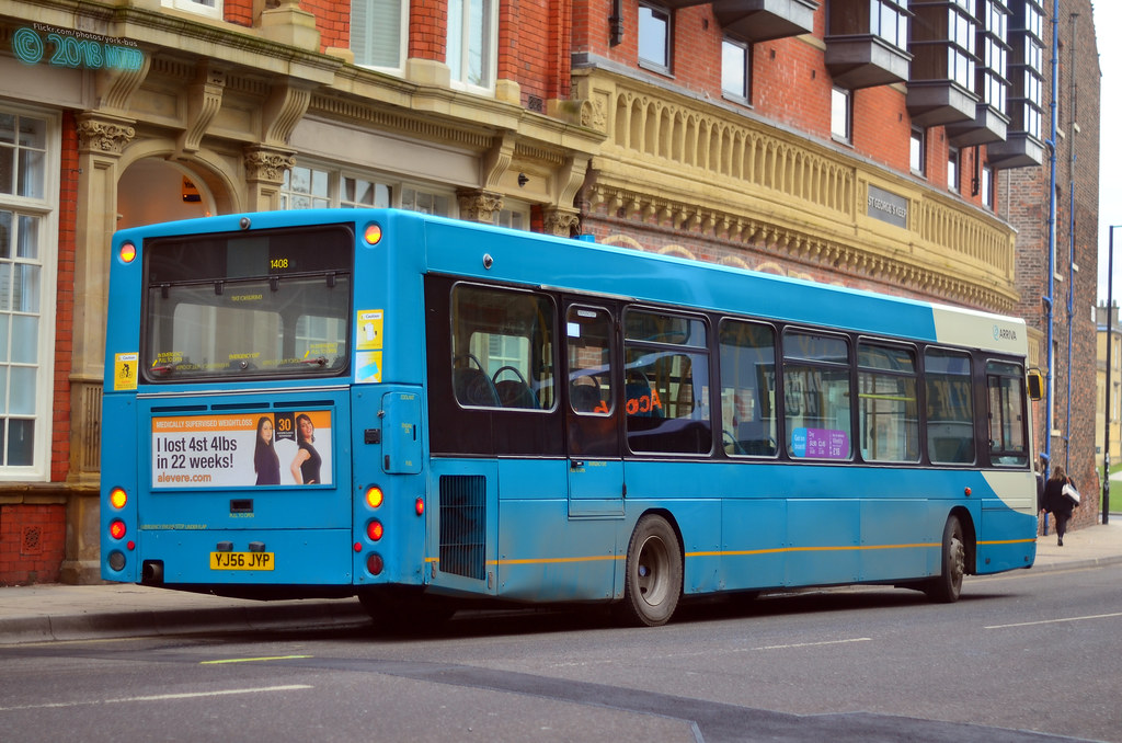 Down Bus Yj56jyp 1408 Arriva Yorkshire York And Selby Sb 200