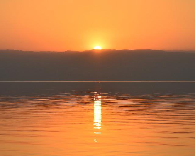 Puesta de sol desde el mejor lugar para ver el Mar Muerto