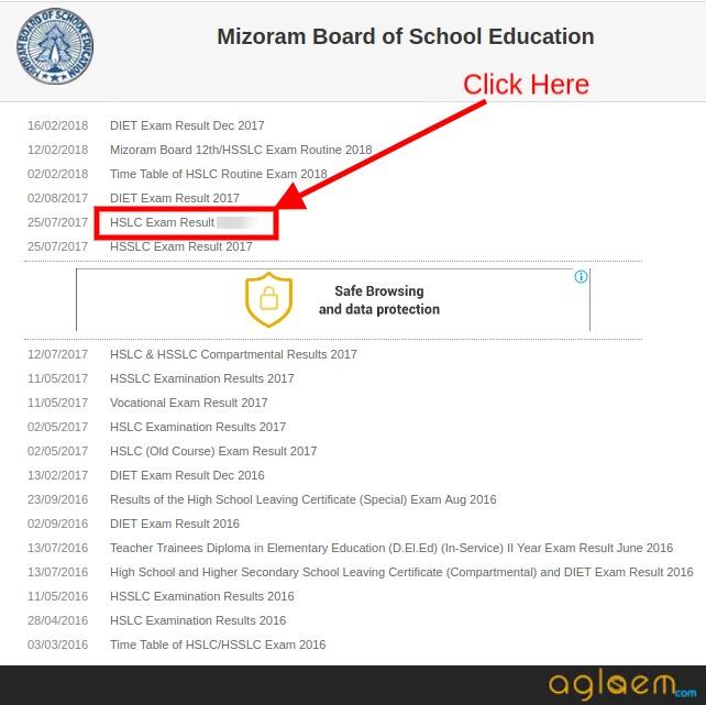 Mizoram Class 10 Result 2018