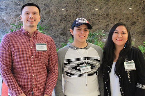 Students from Tribal colleges and universities attending the 2018 Ag Outlook Forum
