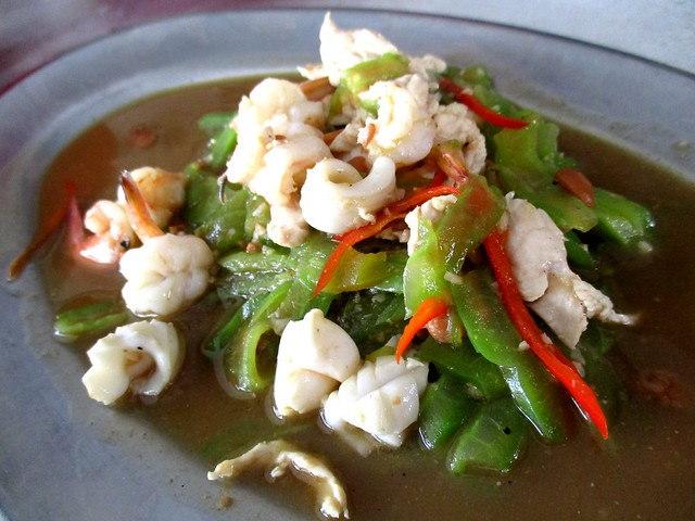 Seafood bitter gourd with taucheo at SYARIKAT KIONG CHUONG CAFE