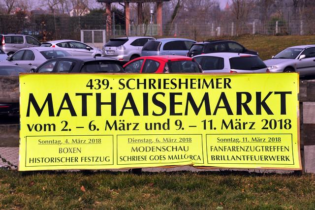Mathaisemarkt in Schriese (Schriesheim) an der Bergstraße ... 25. Februar = Namenstag des Matthias