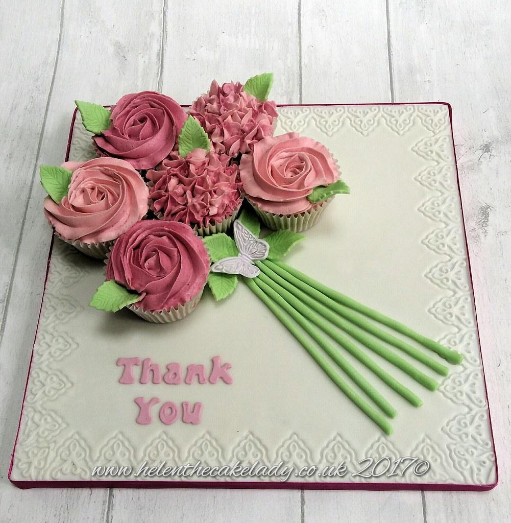 Thank you cupcake bouquet boards helen flickr thank you cupcake bouquet boards by helen the cake lady izmirmasajfo