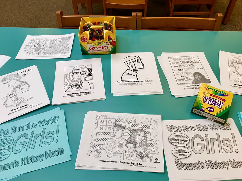 Coloring Pages For January Month : Coloring pages for women s history month the mhms daring school