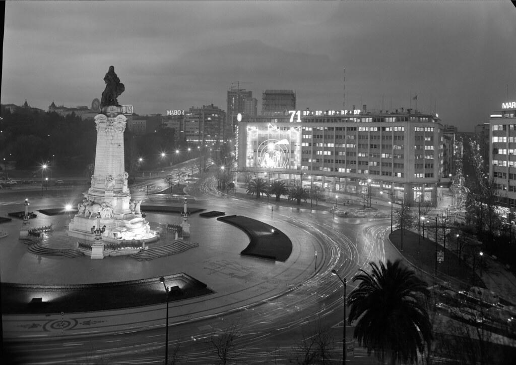 Praça do Marquês de Pombal, Lisboa (M. Novais, 1971)