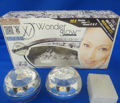 The 'Wonderglow Whitening Specialist Super Ultra Glowing Cream' cosmetic set is one of the products found to contain excessive levels of mercury.