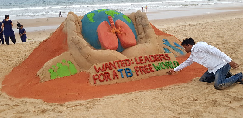 World Tuberculosis Day – Sand Art at Manas Sahoo Sand Art Park, Puri