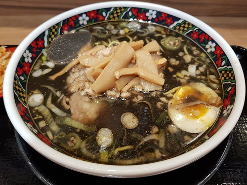 The Squid Ink Se'abura Ramen from Ajisai