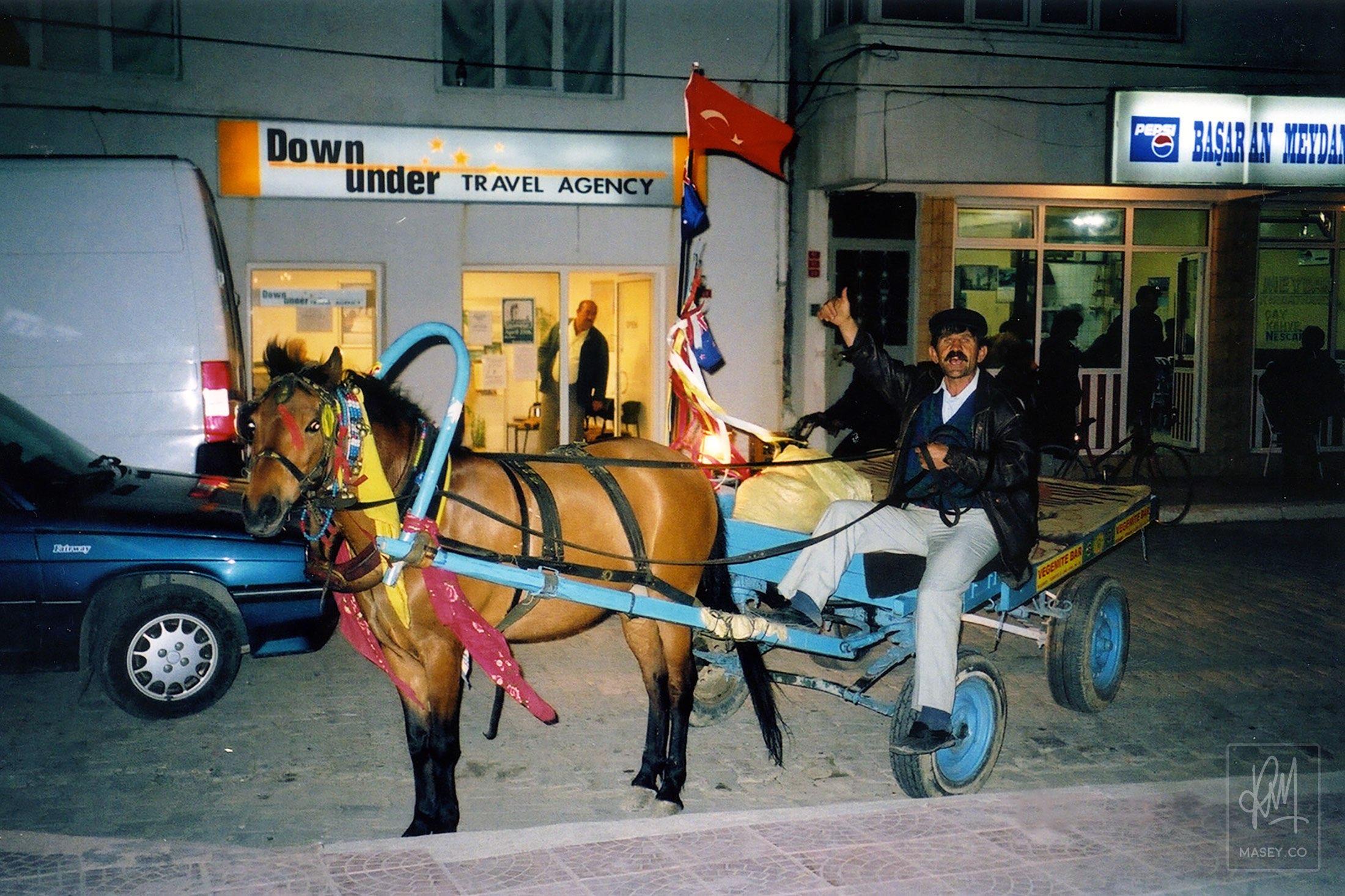 Ecebat-style taxi service - the Donkey Man!