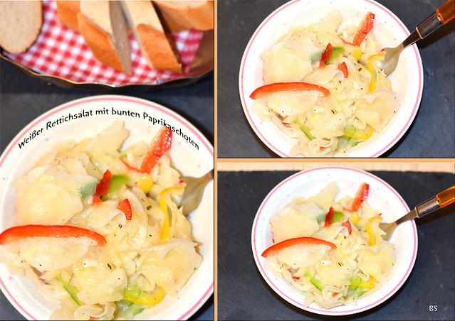 Weißer Rettichsalat mit Paprikastreifchen ... Foto: Brigitte Stolle