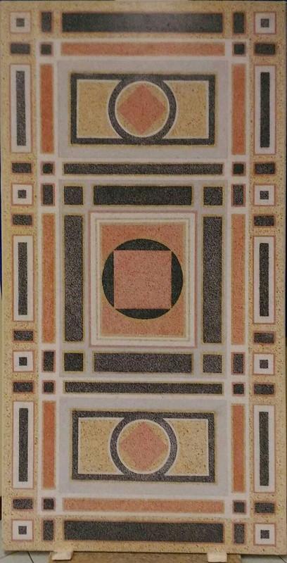Riproduzione in scala del pavimento del Duomo eseguita dal Sig. Germano Marin