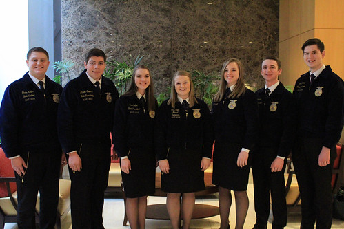 FFA students attending the 2018 Ag Outlook Forum