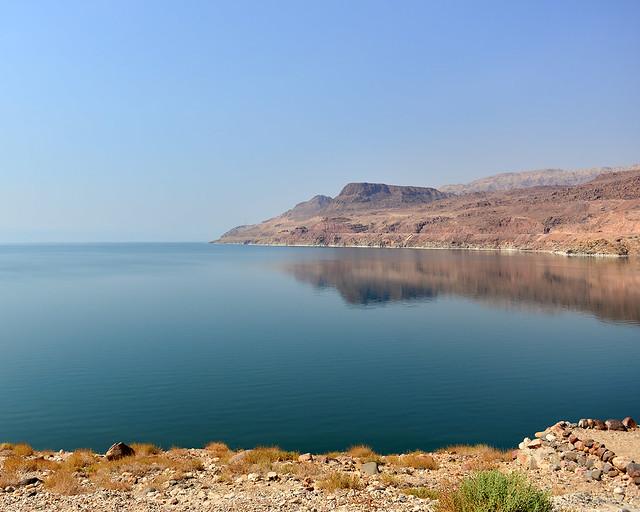 El Mar Muerto en el lado de Jordania