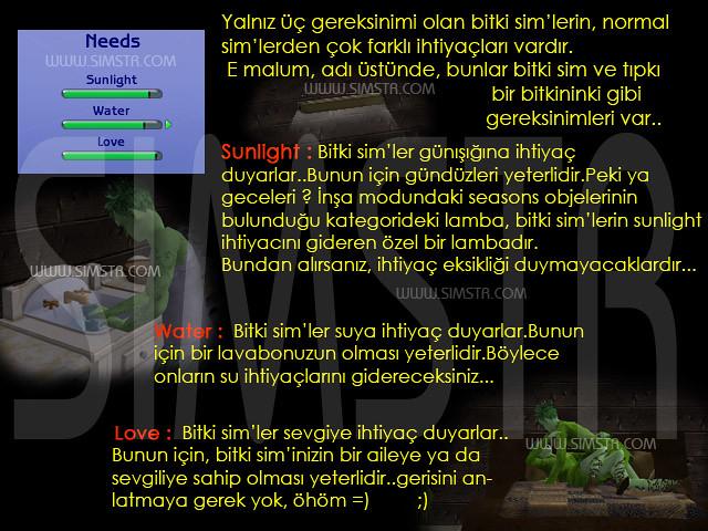 The Sims 2 Seasons Plantsim Needs Bitki-Sim İhtiyaçları