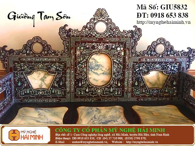GIU5832b Giuong Tam Son Kham Oc do go my nghe hai minh