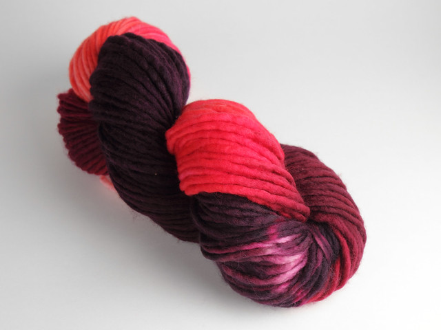 Misfits Sale: Phlump Merino – super chunky superwash pure wool hand-dyed yarn 200g – 'Pink Tsunami' #2