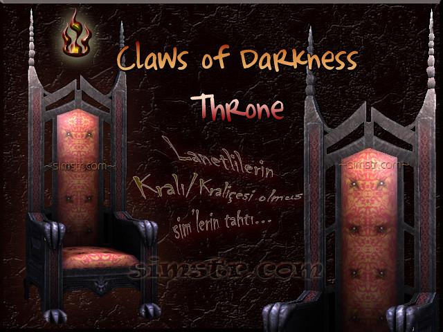 The Sims 2 Apartment Life Apartman Hayatı Witchiness Cadılık Claws of Darkness Throne