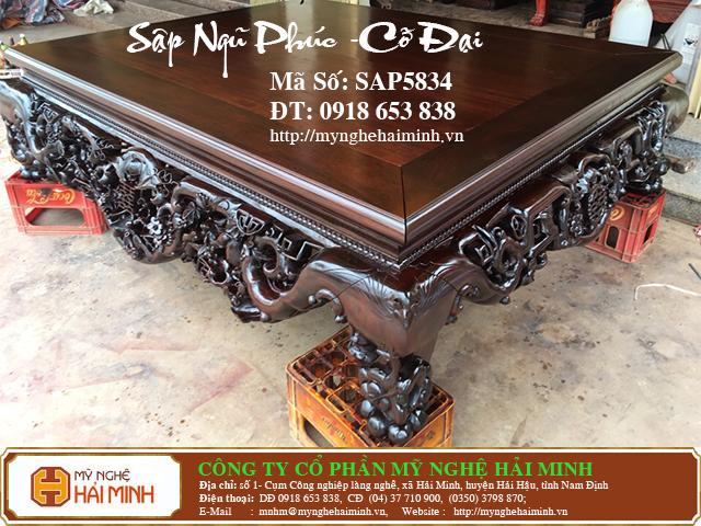 SAP5834b Sap gu Ngu Phuc co Dai do go my nghe hai minh