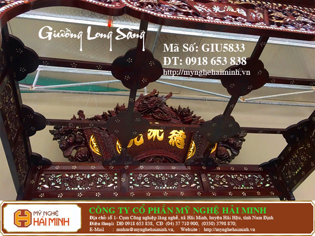 GIU5833d Giuong Long Sang kham Oc do go my nghe hai minh