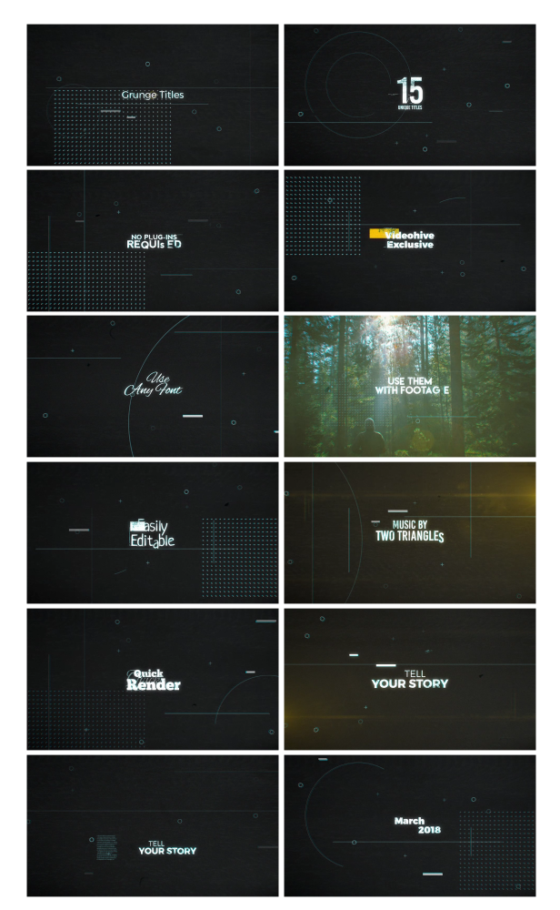 Grunge Titles by vcgmotion | VideoHive