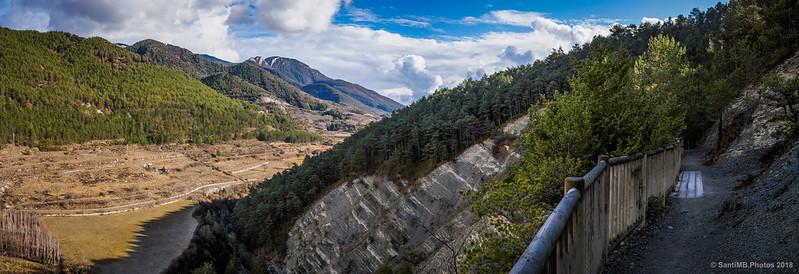 Panorámica del valle del Bastareny desde la Vía del Nicolau