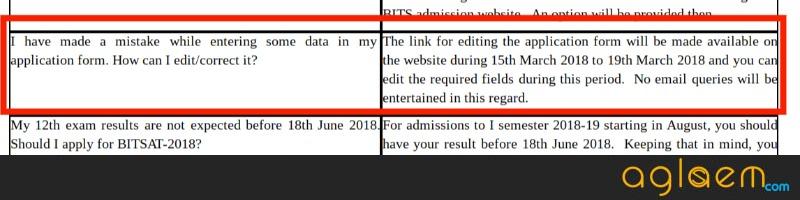 Edit BITSAT 2018 Form now; Application Correction started