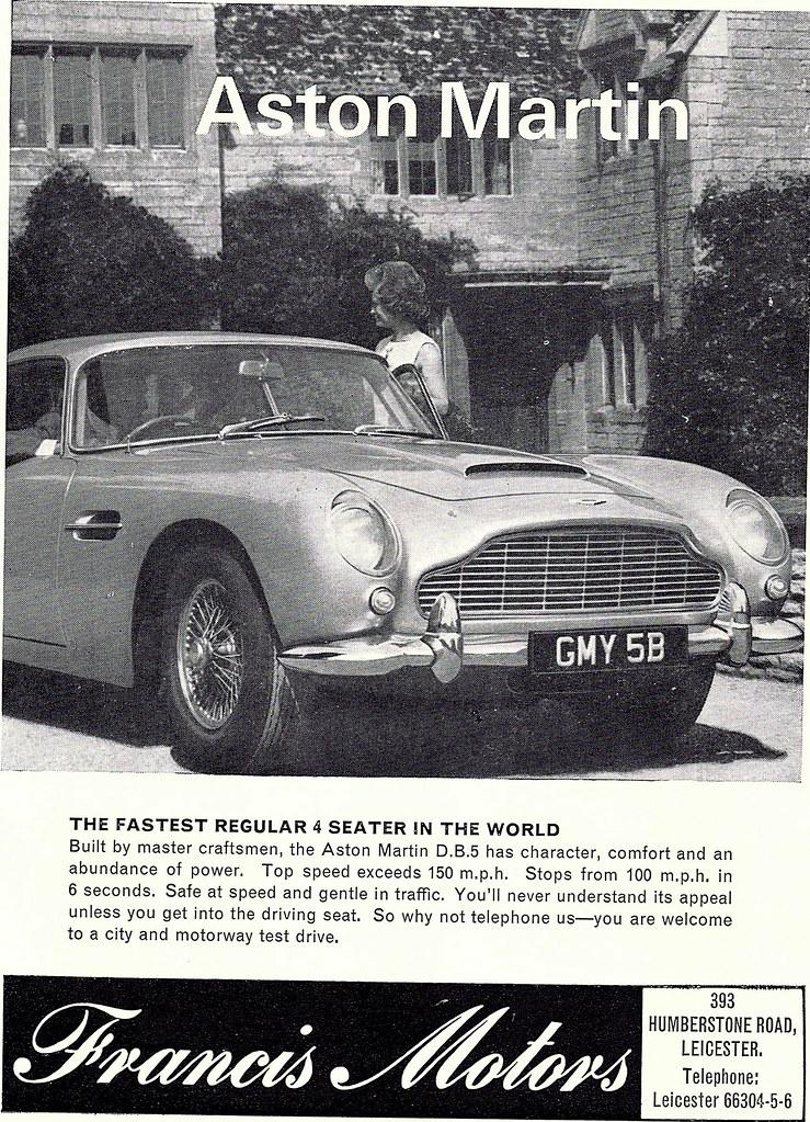 ADVERT FRANCIS MOTORS ASTON MARTIN DEALERS HUMBERST Flickr - Aston martin dealers