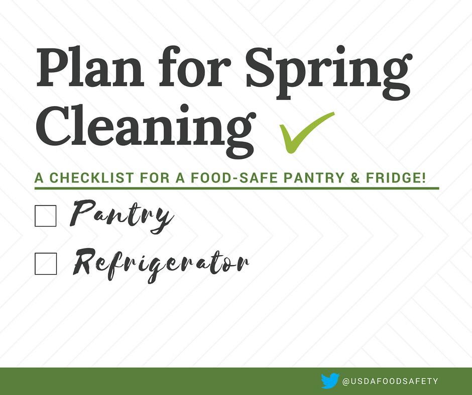 spring cleaning tasks