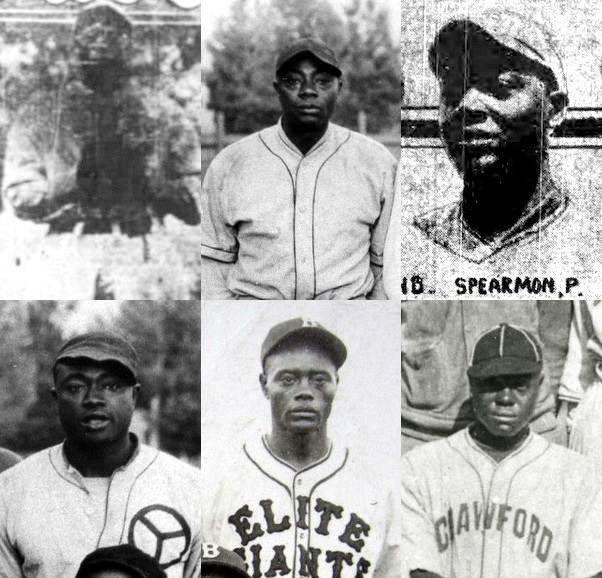 Top, left to right: Charles Spearman, Codie Spearman and Willie Spearman. Bottom: Hayse Spearman, Henry Spearman and Clyde Spearman.