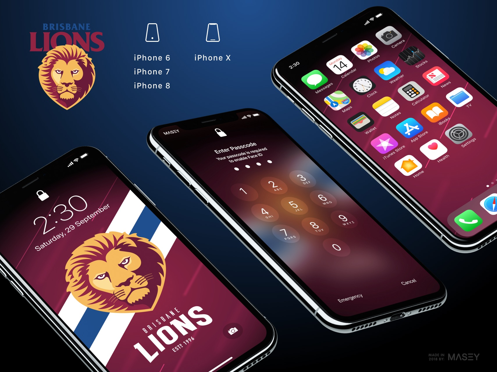 Brisbane Lions iPhone Wallpaper