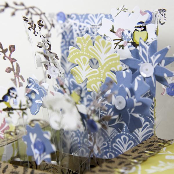 Pretty spring crafts - pop up box card