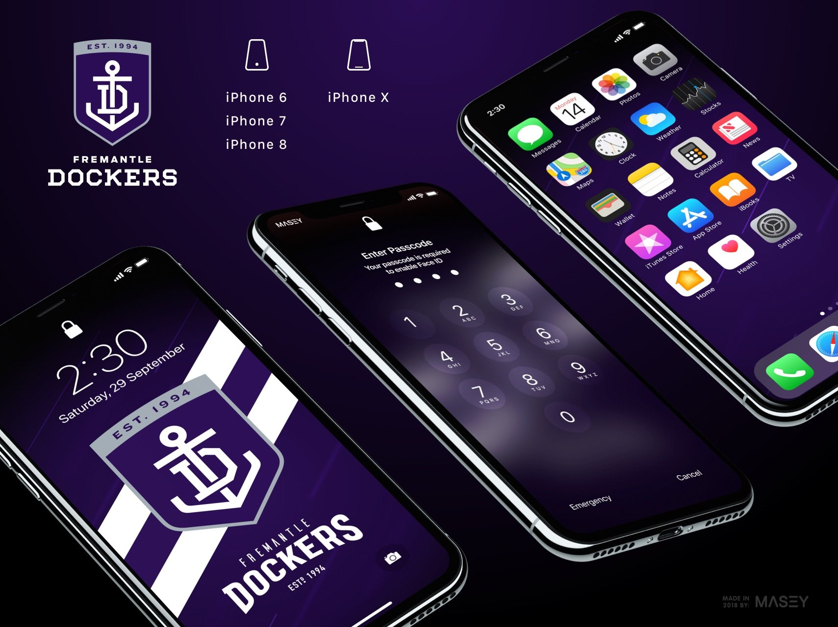 Fremantle Dockers iPhone Wallpaper
