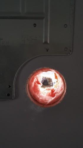 mini split hole