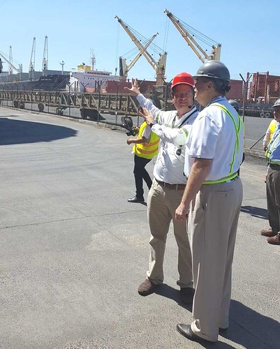 Under Secretary for Trade and Foreign Agricultural Affairs Ted McKinney touring the terminal at Port Quetzal