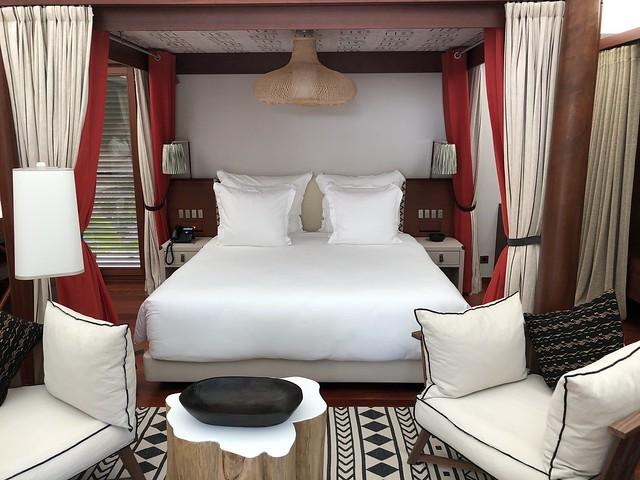 Habitación de lujo en el resort Sundy Praia de Príncipe