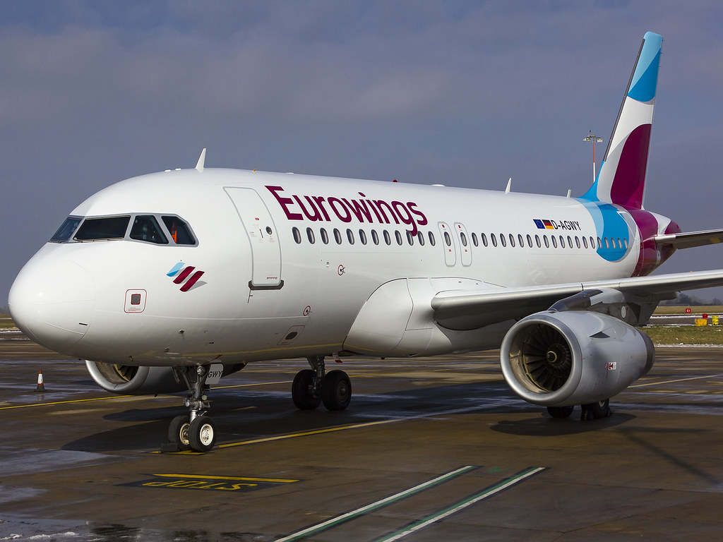 Eurowings Airbus A319 132 D Agwy Sat On Stand 5