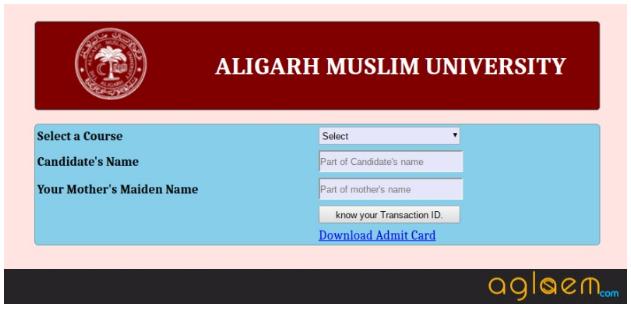 Download AMUEEE 2019 Admit Card
