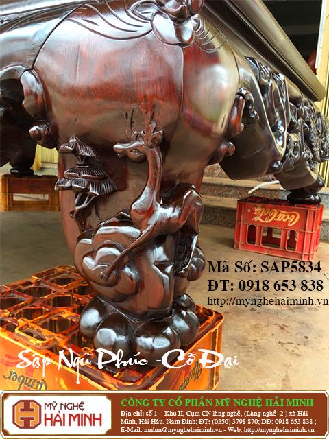 SAP5834f Sap gu Ngu Phuc co Dai do go my nghe hai minh