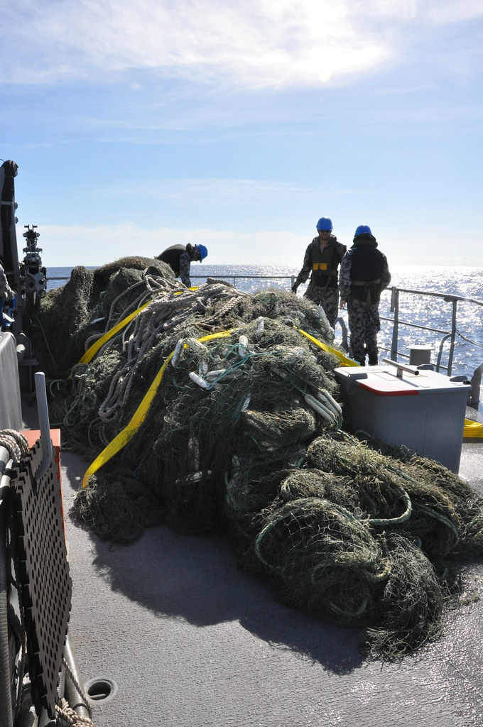 A GHOST NET RETRIEVED FROM AUSTRALIAN WATERS
