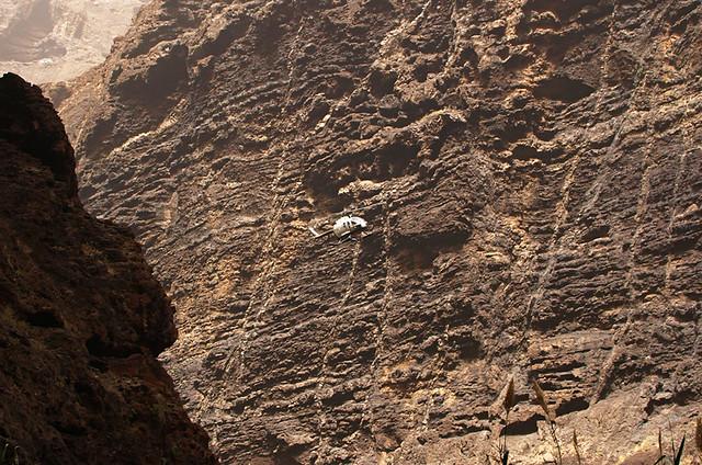 Rescue copter, Masca Barranco, Tenerife