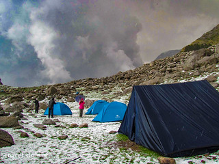 Camps at Indrahar Pass Trek