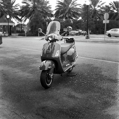 The Vespa At City Park, Tri-X Film | by bongo najja