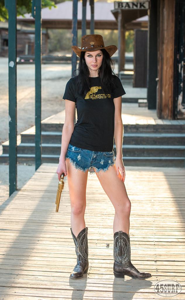 Pretty Cowgirl Model Goddess with Cowboy Hat 631826ecd16