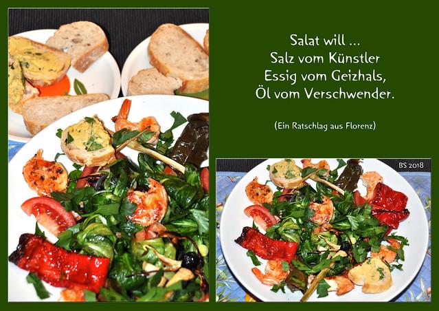 Feldsalat mit bunten Leckereien garniert ... Foto: Brigitte Stolle