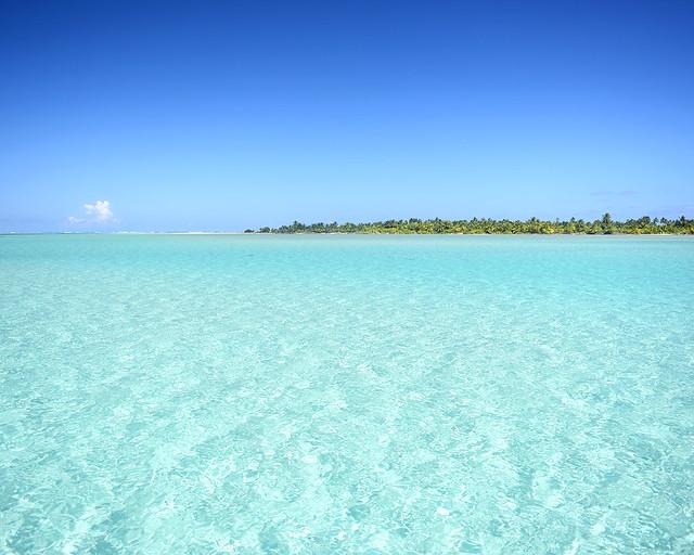 Aguas paradisíacas en Maldivas