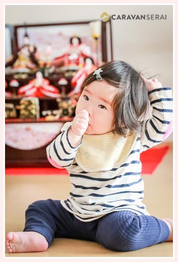 1才のお誕生日・初節句記念❤ご自宅での家族写真の撮り方の参考にどうぞ(名古屋市北区)