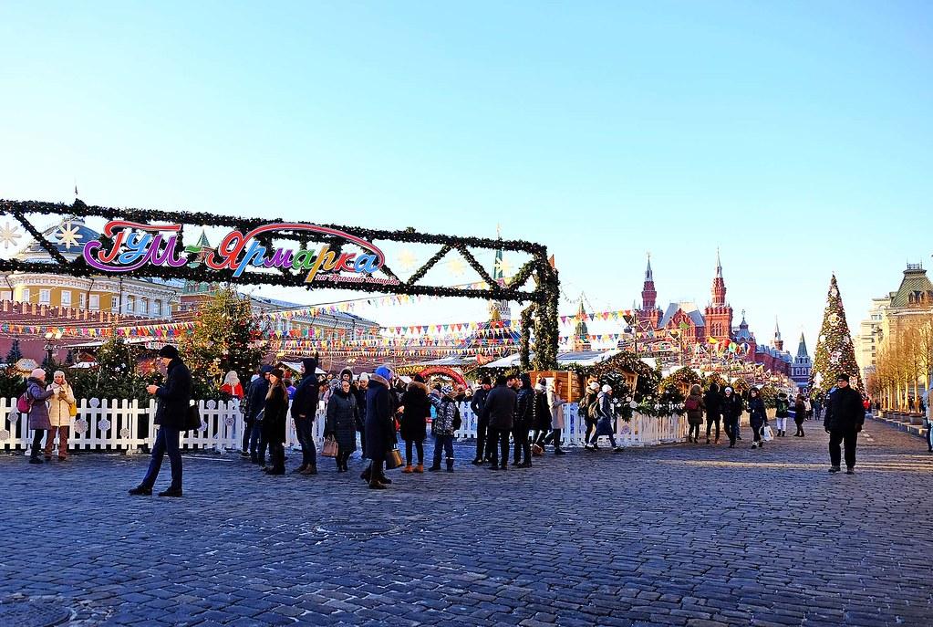 ГУМ-Ярмарки краски в новогоднем «сердце» Москвы