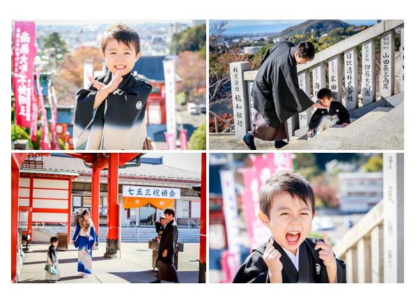 犬山成田山で男の子の七五三