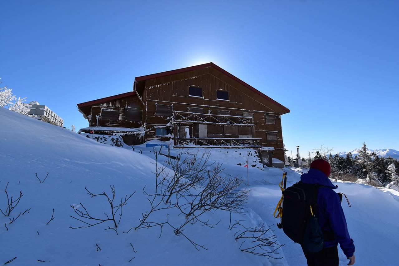 冬の西穂山荘
