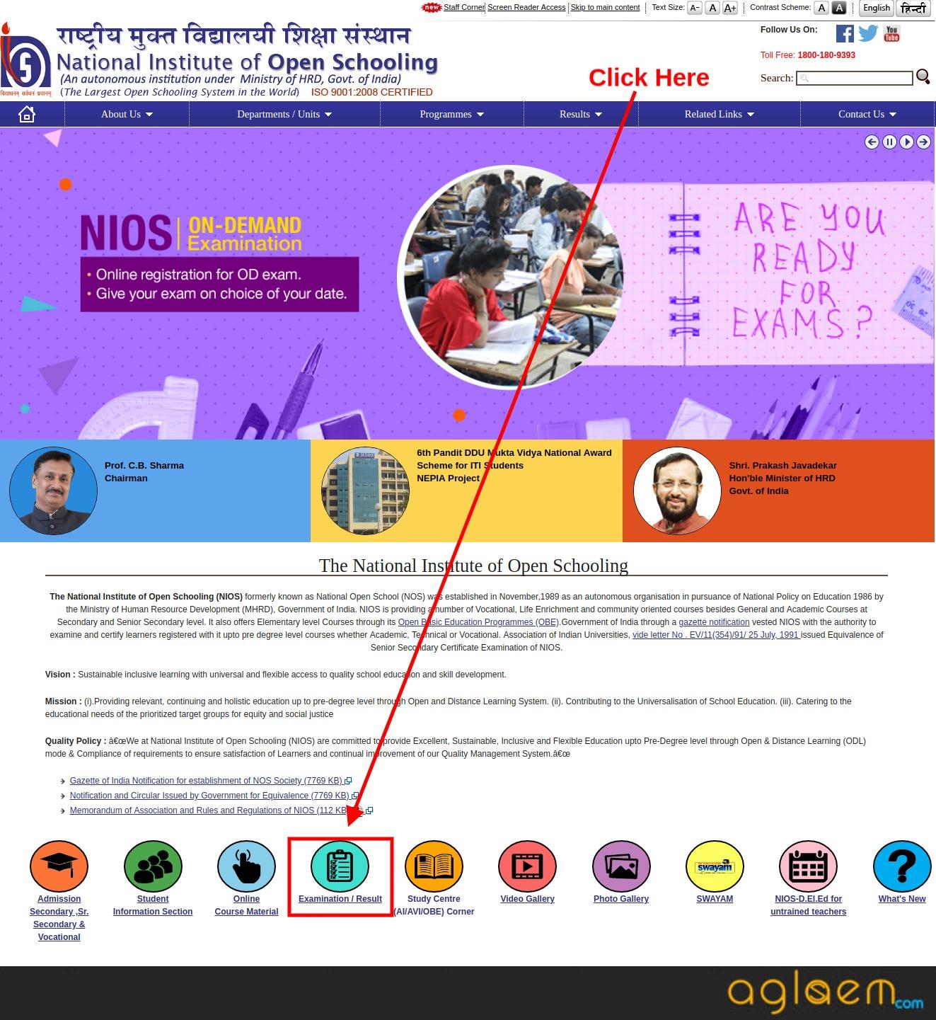 NIOS 10th Result April 2019